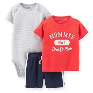 Carter's Baby Boys 3 Piece Short Outfit Set